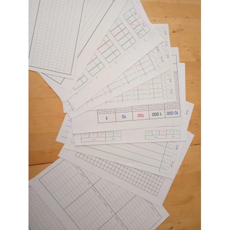 Lot de papiers pour les Mathématiques