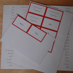 Conjugaison - Tri de verbe finition imprimé et plastifié - Esprit Montessori